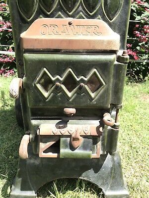 Antique Pot Belly Wood Heater Fire Place Coal Burner German ONE OF A KIND