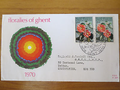 Belgian floral first day cover
