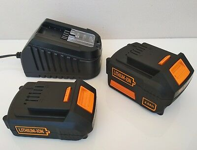 18v X-POWER lithium batteries 2ah + 4ah for Triton xt tools + fast charger.