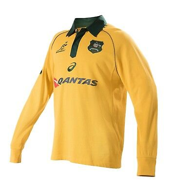 RUGBY Wallabies 2017 Mens Traditional Long Sleeve Jersey - Sizes  S to 3XL