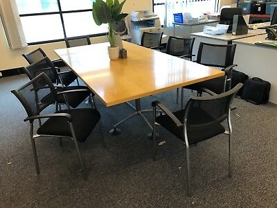 Boardroom / Meeting Table & 8 Brand New Chairs