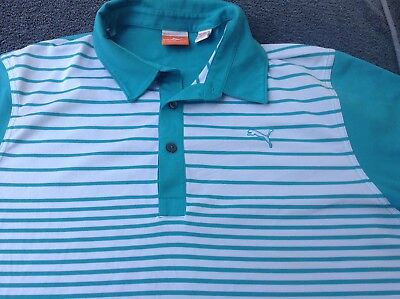 PUMA Men's XL Golf polo shirt jersey top Tour club Links PGA