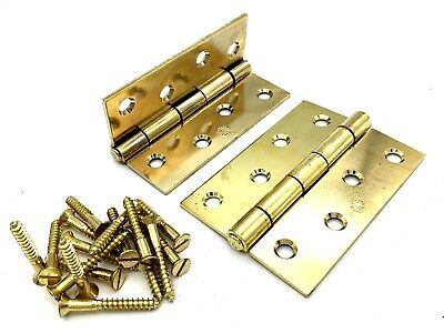 Carlisle Brass Door Hinges 4x3x3 Electro plated With Screws Inc Boxed 2 Pairs
