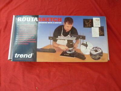 Trend, Routasketch jig, drawing with a router.  Router jig. Woodworking. Hobby.