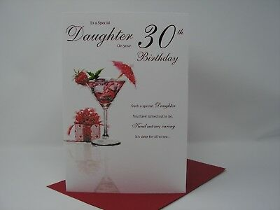 Daughter 30th Birthday Quality Greeting Card 259 Picclick Uk