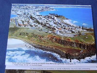Twin Towns Post Card Coolangatta - Tweed Heads Fold Out Vintage Australia