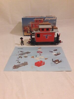 Playmobil 4123 4034 Caboose Waggon Western Steaming Mary OVP Anleitung