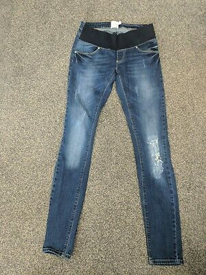ASOS maternity skinny leg jeans size 8 distressed look