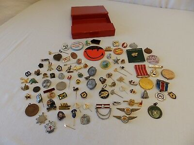 Bulk Lot Of Collectable Pins / Badges / Medals - Large Variety - Some Rare!!!
