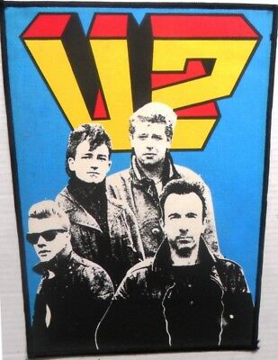 U2 'Group'   vintage printed  backpatch  original 80's