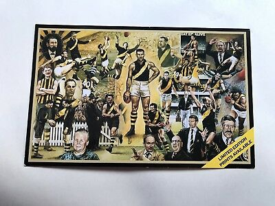 Postcard Of the Limited Edition Framed And Signed Richmond Hall Of Fame.