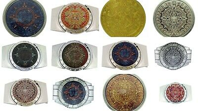 Aztec Calendar Removable Lighters Belt Buckle Mayan Indian Fashion Metal Gothic