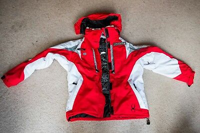 Spyder womens Ski Jacket, red and white, size medium, great condition