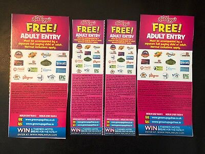 4 x Kelloggs Free Adult Entry 2 for 1 vouchers Merlin Legoland London Eye