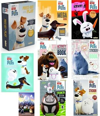 The Secret Life of Pets Activity BOOK Stickers Animal Games Tin Books Colouring