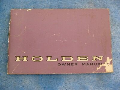 Holden Gmh Nasco  Owner Manual Hg March 1971 Monaro Brougham Premier