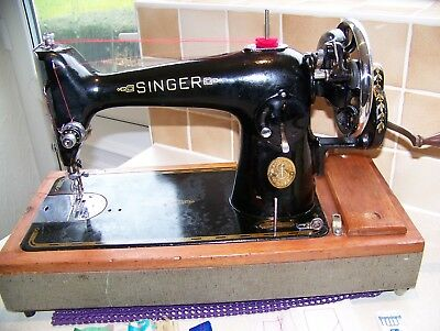 Singer 201K  Heavy Duty Hand Sewing Machine,serviced,semi Industrial Fabrics
