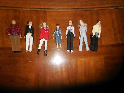 Breyer Horses Articulated Doll Figures lot of 7 people