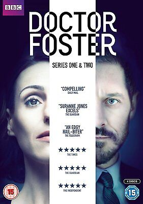 DOCTOR FOSTER Stagioni 1-2 Serie Complete BOX 4 DVD in Inglese Nuovo