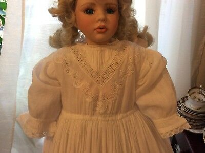 Antique baby's Christening long embroidery white gown/dress