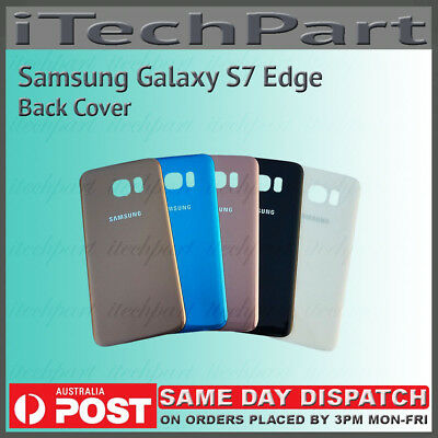 Samsung Galaxy S7 Edge Back Glass Housing Panel Battery Door Cover Replacement