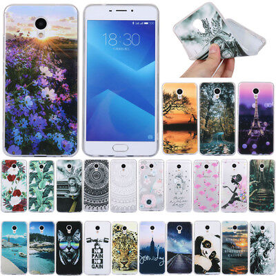 For Meizu M6 M5 M3 Note Slim Shockproof Soft Silicone Painted Back Case Cover