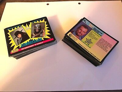 Set von 80 WWF Trading Cards Wrestling 1992 Summerslam schwarze Serie cool!! top