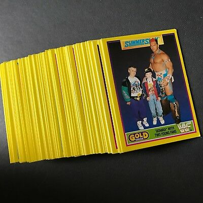 Set von 65 WWF Trading Cards Wrestling 1992 Summerslam gelbe Serie cool!! top