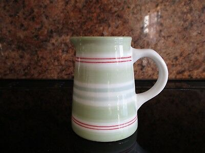 LAURA ASHLEY Green Striped Jug