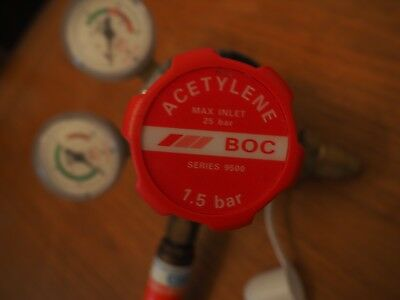 1.5 bar Acetylene Regulator Valve - BOC Series 9500