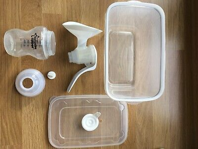 Tommee Tippee Hand Breast Pump with microwave sterilising box