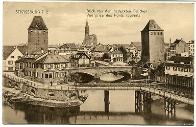 CPA-Carte postale-FRANCE - Strasbourg - Vue prise des Ponts Couverts(CPV 384)
