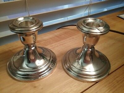 FISHER #814 WEIGHTED STERLING CANDLE HOLDERS-set of TWO /$23 - Free Shipping