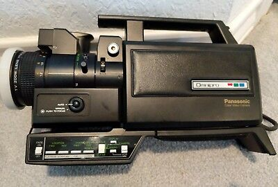 Vintage Panasonic Omnipro Color Video Camera PK-956 w/ Viewfinder and VideoLight