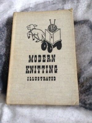 Modern Knitting Illustrated Book Vintage 1930s 40s over 100 Knitting Patterns