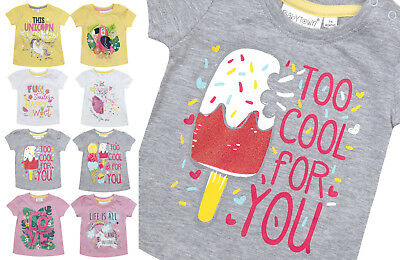 Girls Top TShirt Baby Newborn Summer Holiday T Shirt Unicorn Love Cute Cartoon