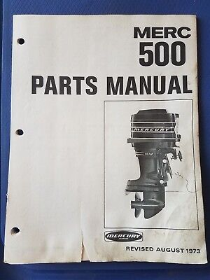 Vintage Mercury Marine - Merc 500 Parts Manual - 1973 - Original
