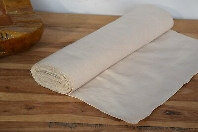Antique Rustic C. 1890 French Pure Linen Upholstery Fabric Never Used