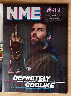 NME Magazine 16 February 2018 Liam Gallagher NME Awards Black Panther