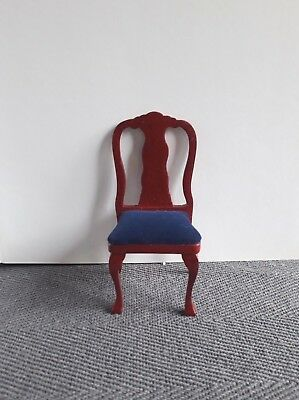 Dolls House Furniture: Chair with mahogany finish : in 12th scale