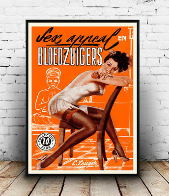 Bloedzuigers: Vintage Dutch Mag cover advert, Wall art ,poster, Reproduction.