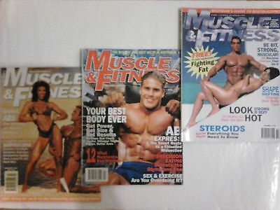 3 x Muscle & Fitness bodybuilding mags (Oct 1996, Feb, Apr 1997)