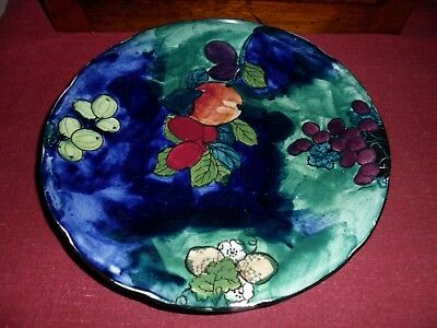 HANCOCKS TITIAN WARE PLATE 22cms.FX ABRAHAM HAND PAINTED. 1930s. LOW START.