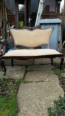 Antique Victorian Suite....2 seater Settee and 2 single chairs (restoration)