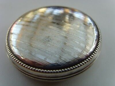 A Vintage Pocket Pill Box Pot Case Germam Herz (Heart) Alpacca Nickel Silver