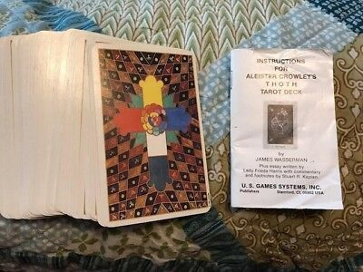 Aleister Crowley's Thoth Tarot Deck 80 Cards Complete 1986 Switzerland / U.S.A.