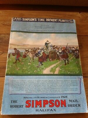 Simpson Sears 1928 Spring and Summer Catalogue Madam de Champlain Cover