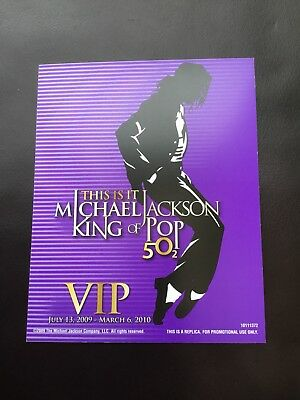 Michael Jackson Hologram Card This Is It 2010 Blue Jacket