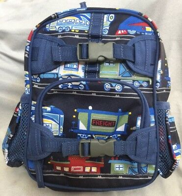 Nwot Pottery Barn Kids Toddler Small Backpack Trains Transportation