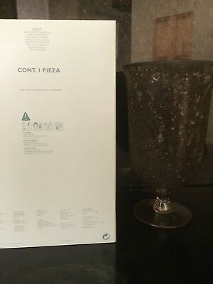 Partylite Siena Lights Glass Hurricane P90037 with free candle